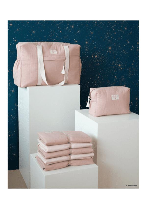 trousse de toilette misty pink nobodinoz maternité