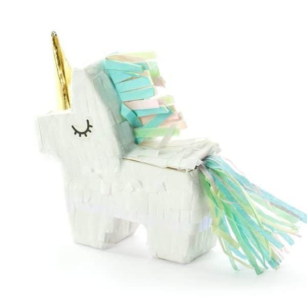mini pinata licorne fete anniversaire décoration