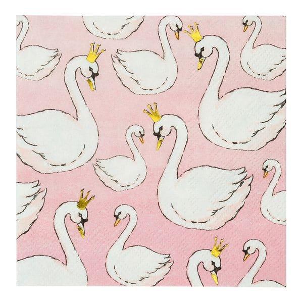 serviette cygne talking table anniversaire fille swan