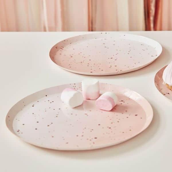 assiette rose gold ombre décoration fete