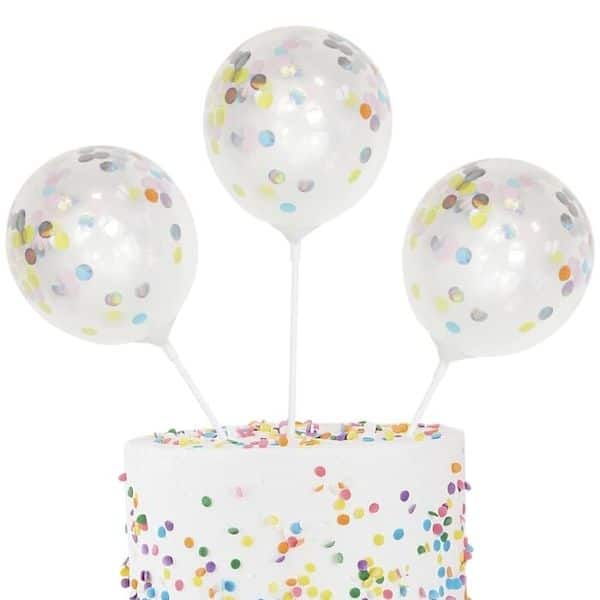 cake topper ballon confetti gateau cake design anniversaire