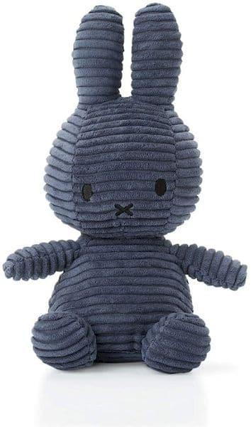 doudou peluche lapin miffy cadeau naissance bébé 24 cm bleu nuit
