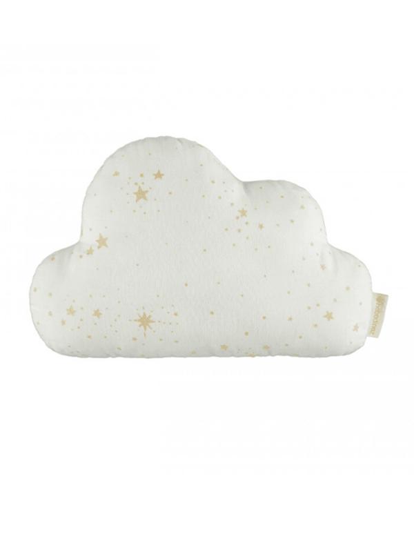 Coussin nuage white gold stella nobodinoz étoile dorée chambre bébé