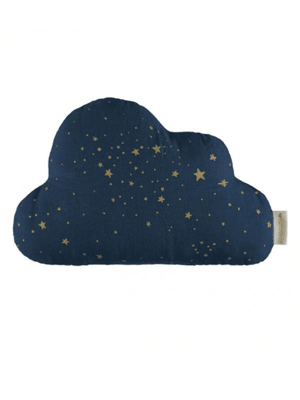 coussin nuage Nobodinoz gold stella/midnight blue chambre bébé garçon