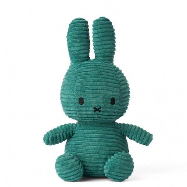 Peluche doudou lapin miffy vert foncé 24 cm idée cadeau naissance