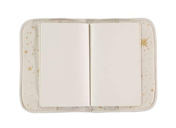 Protège carnet de santé Gold stella / natural Nobodinoz x 1 fille garcon blanc étoile dorée