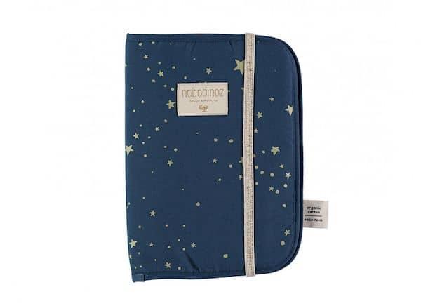 Protège carnet de santé Gold stella /night blue Nobodinoz bleu étoile dorée