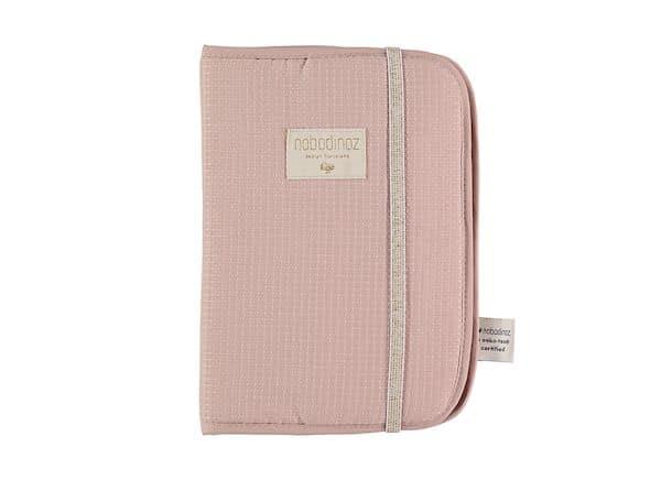 Protège carnet de santé Poema Misty Pink Nobodinoz Fille rose