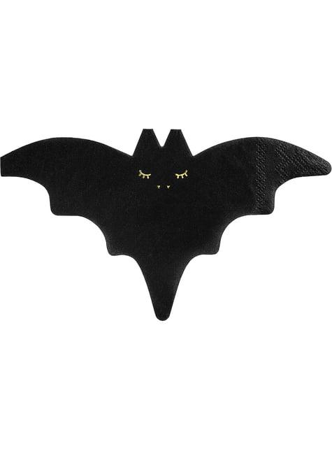 Serviette chauve souris halloween