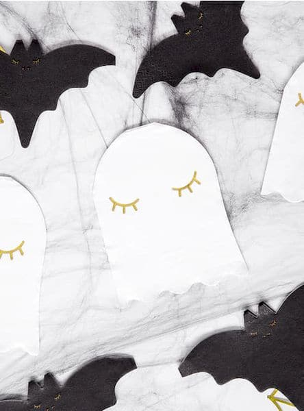 serviette fantome halloween