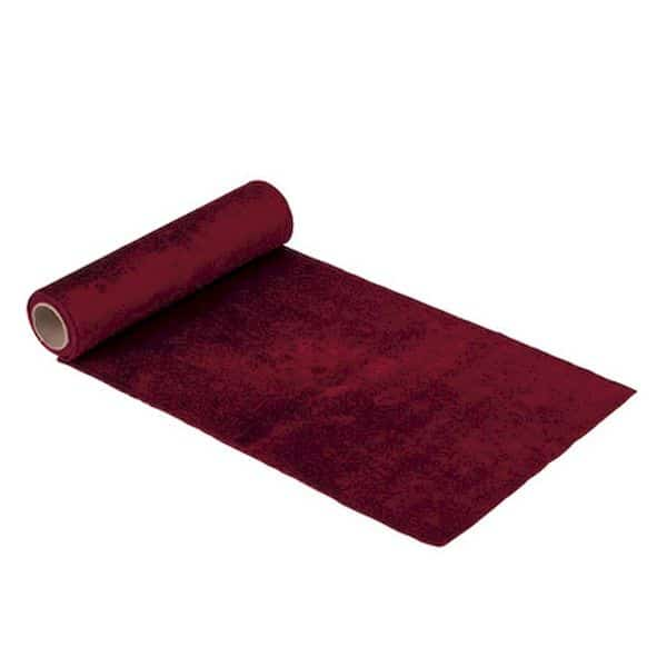chemin de table velours rouge lavable décoration de table de noël