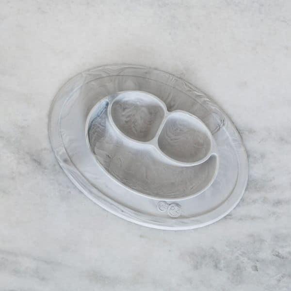 mini mat ezpz marbre assiette anti dérapante bébé sillicone