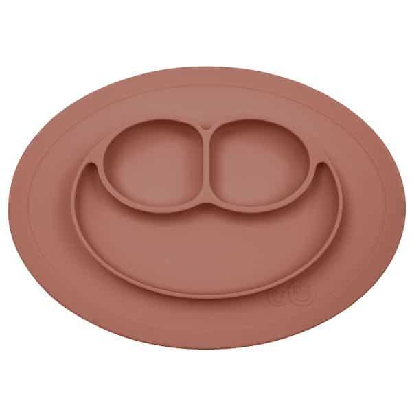 Mini mat sienna Terre de sienne terracota ezpz assiette repas bébé
