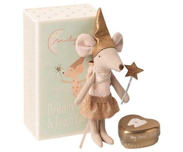"""Petite souris fée des dents fille avec sa boîte """"Maileg"""