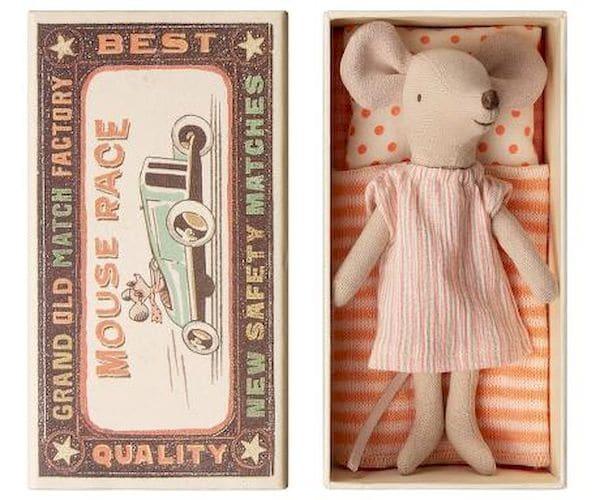 """Petite souris grande soeur dans sa boîte """"Maileg"""" cadeau noel fille"""