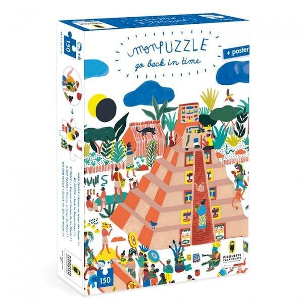 Jeu de puzzle, go back in time, retour au Maya puzzle innovant pirouette cacahouete