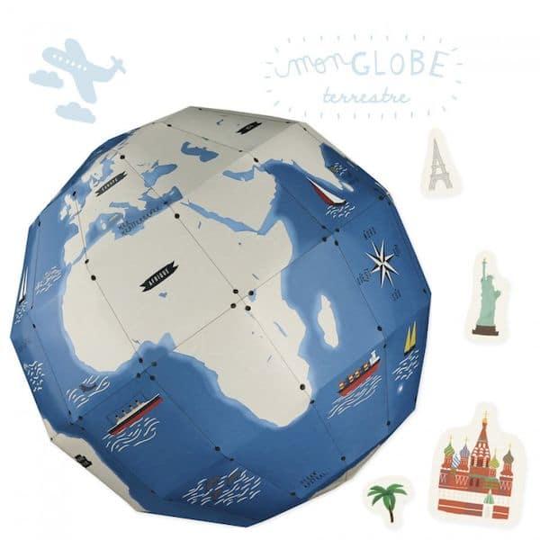 Kit loisir créatIf - Mon globe terrestre activité enfant ludique carton recyclé