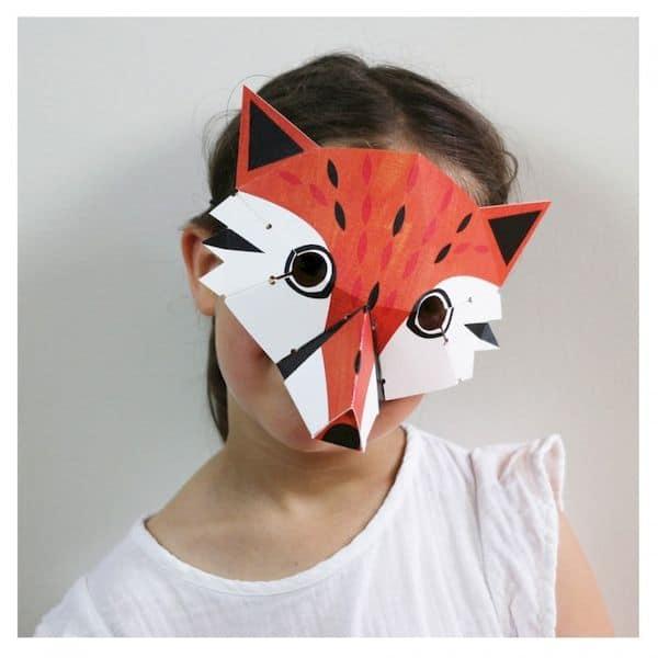 Kit loisir créatIf - 4 masques animaux de la Forêt pirouette cacahouete carton recyclé