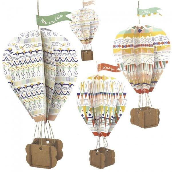 kit-creatif-montgolfieres-en-carton_ PIROUETTE CACAHUETE carton recyclé activité enfant