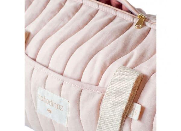 Sac Week-end mini Los Angeles Bloom Pink Nobodinoz rose sac de sport enfant petit pratique