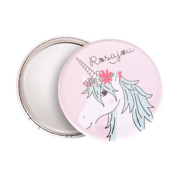 miroir de poche licorne enfant rosajou