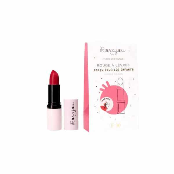 baume rouge à lèvres rosajou maquillage enfant français bio madame