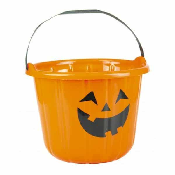 seau citrouille halloween recolte bonbon