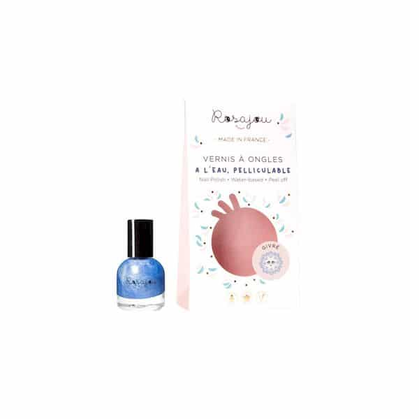 VERNIS A ONGLES ROSAJOU givre bleu MADE IN FRANCE ENFANT BIO PELLICULABLE