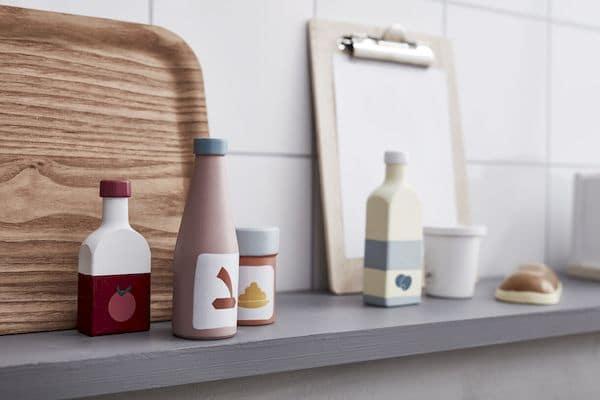 Set de 5 bouteilles Bistro - Kid's Concept ustensile dinette cuisine bois