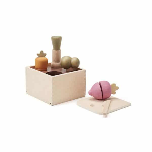 Bac à Plantes en bois - Kids Concept jouet en bois fruit à découper