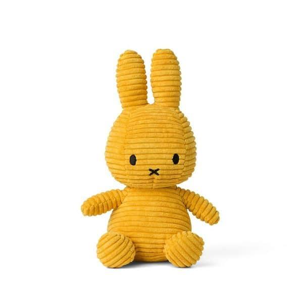 Lapin velours cotelé moutarde 24 cm- Miffy CADEAU NAISSANCE tendance