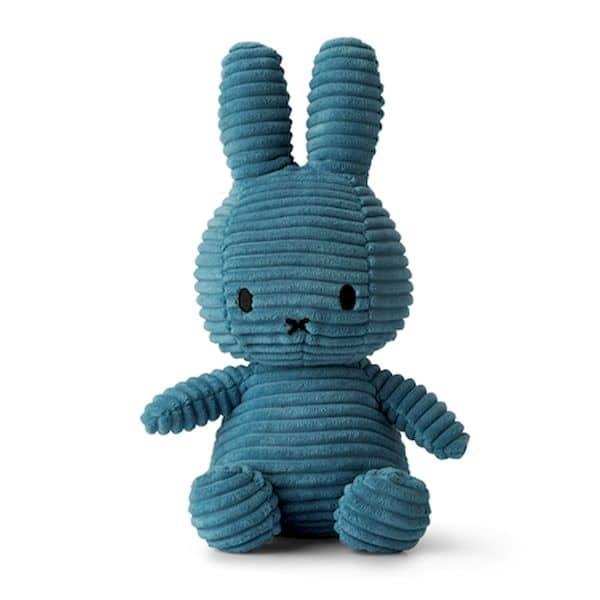 Lapin velours côtelé bleu aviateur - Miffy