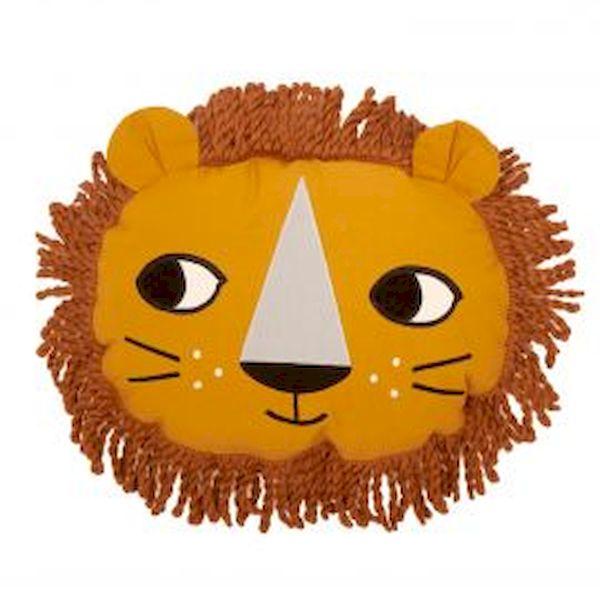 coussin lion roommate décoration chambre enfant