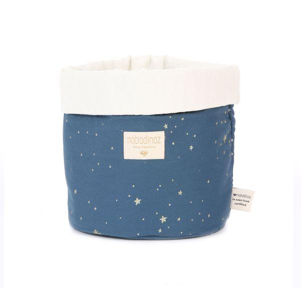 Panier Panda Medium Gold Stella / Night Blue - Nobodinoz