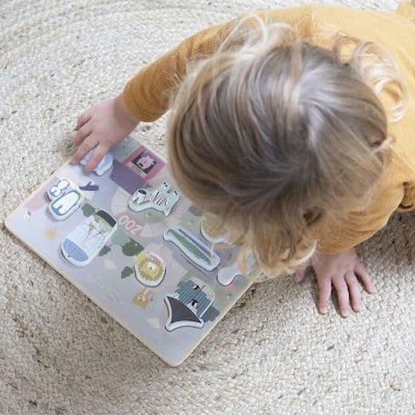 Puzzle d'encastrement en bois Zoo - Little dutch jouet en bois 1 an 18 mois