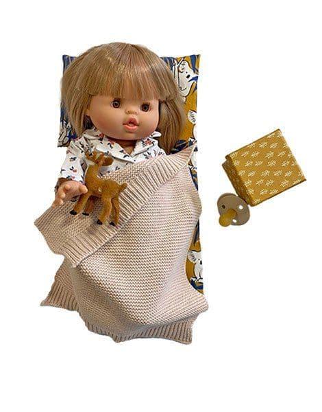 Set Week-end nomade en coton Koala - Minikane accessoire poupée minikane