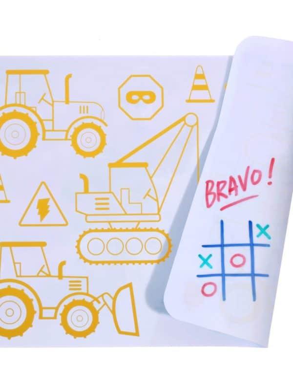 Mini kit à colorier silicone Construction réversible activité créative coloriage à l infini super petit