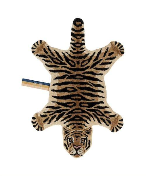 tapis tigre small doing goods laine et coton décoration chambre enfant