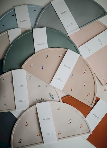 set de table silicone mushie