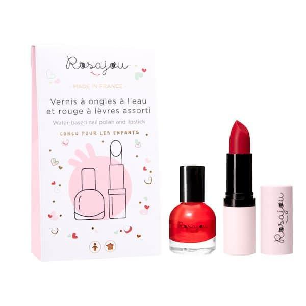 maquillage enfant bio français vernis rouge baume à lèvres