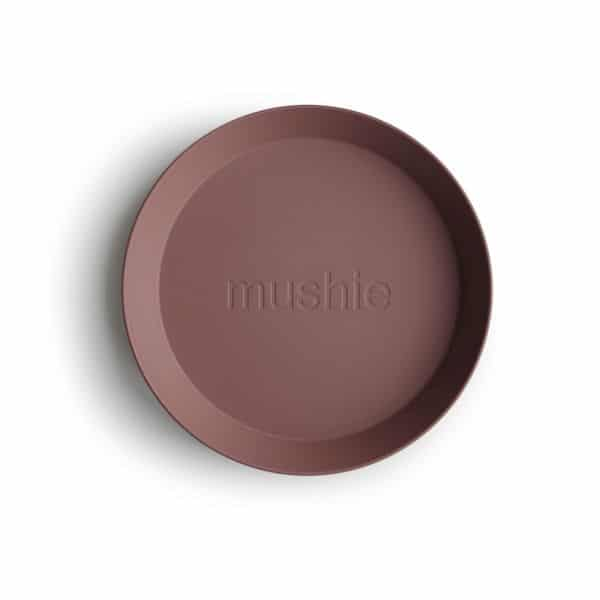Lot de 2 assiettes rondes Terracotta - Mushie