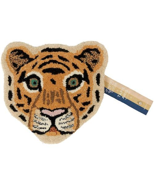 tapis tête de tigre doing goods décoration chambre enfant animal
