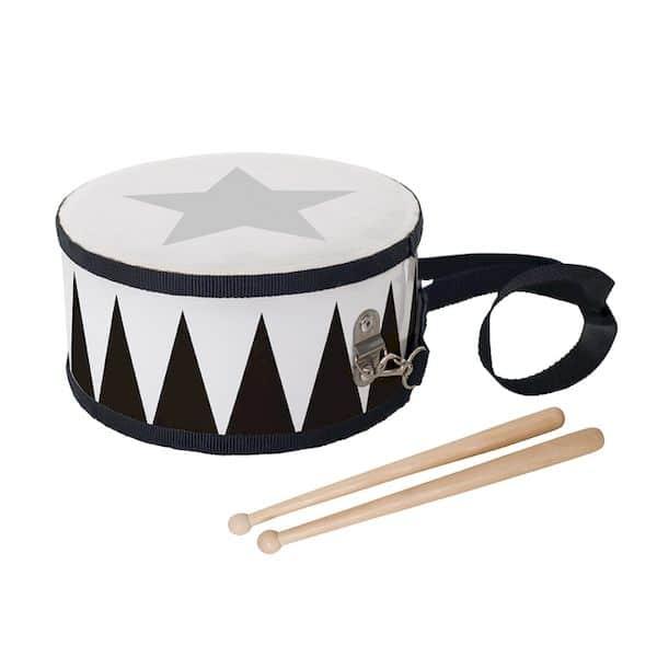 tambour en bois jabadabado noir et blanc enfant