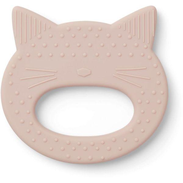 anneau de dentition gemma chat rose liewood cadeau de naissance enfant silicone