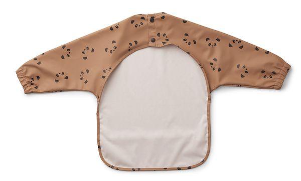 bavoir à manche merle liewood panda rose tuscany premier repas enfant cadeau naissance