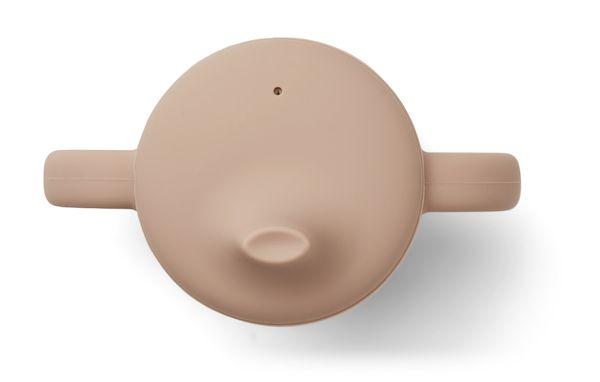 tasse d'apprentissage à bec neil en silicone rose tuscany liewood première tasse pour boire