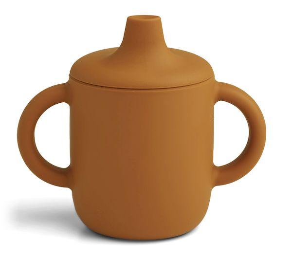 tasse d'apprentissage neil moutarde liewood en silicone première tasse pour boire