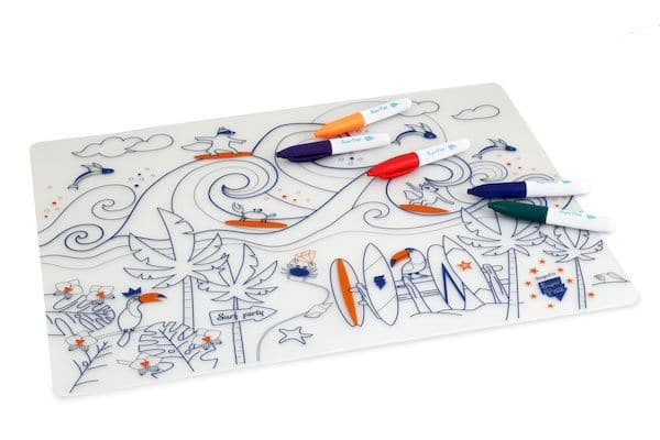 Kit à colorier Silicone Surf party - Super Petit coloriage enfant