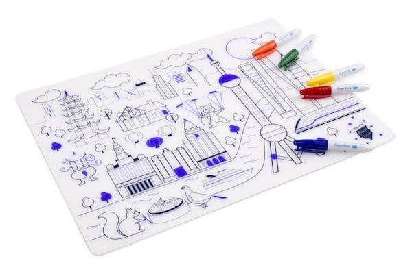 Kit à colorier Silicone Ville Futuriste - Super Petit coloriage enfant