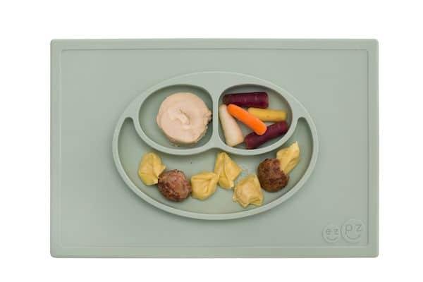 happy mat set de table assiette antidérapante silicone cadeau naissance bébé enfant premier repas
